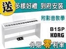 【金聲樂器】KORG B1-SP 88鍵 電鋼琴 分期零利率 贈多樣好禮 B1SP