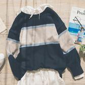 MUMU【N15662】配色條紋針織毛衣。兩色