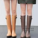 雨鞋女時尚款外穿雨靴長筒加絨保暖防水高筒水靴防滑膠鞋女士水鞋 每日下殺NMS
