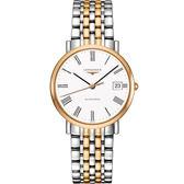 LONGINES 浪琴 Elegant Collection 羅馬機械腕錶/手錶-白x雙色版/37mm L48105117