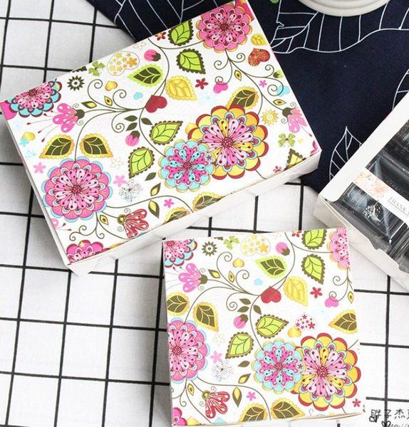 月餅包裝盒   萬花齊花方盒  *5個   13.5*13.5CM   想購了超級小物