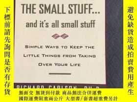 二手書博民逛書店DON T罕見SWEAT THE SMALL STUFF....