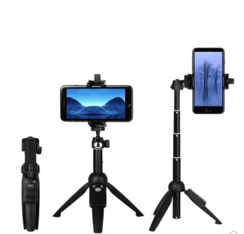 手機三腳架藍芽遙控自拍桿通用型小米iphone7蘋果x8便攜迷妳直播ATF 沸點奇跡