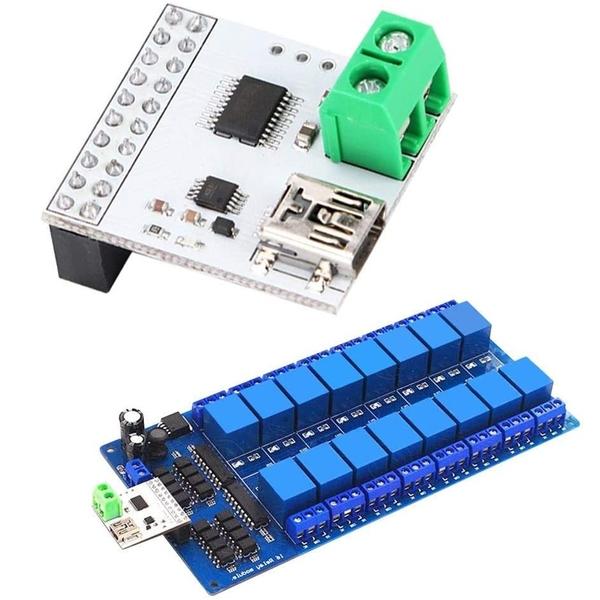 [9美國直購] 繼電器模組 fosa 5V 16 Channel USB Relay Module Computer Switch Control, USB Control Switch