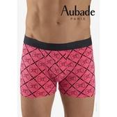Aubade man-舒棉M-XL平口褲(黑蝴蝶結)