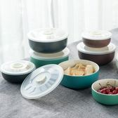便當盒陶瓷飯盒帶蓋圓形密封微波爐專用飯盒保鮮碗保鮮盒 【格林世家】