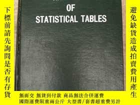 二手書博民逛書店handbook罕見of statistical tables(
