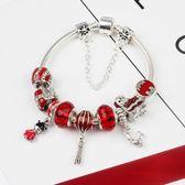 紅舞獅 民族風喜慶富貴手鍊 DIY合金串珠飾品《印象精品》yq236