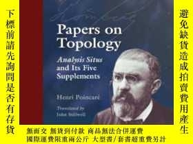 二手書博民逛書店【罕見】Papers On TopologyY236371 Henri Poincare American M