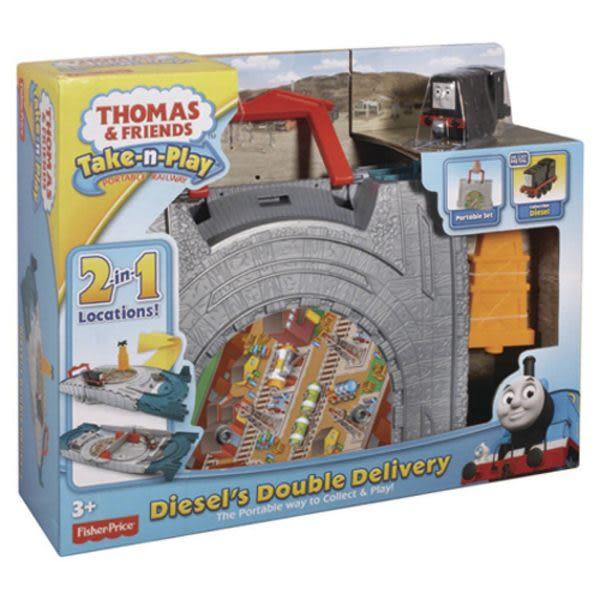 特價 湯瑪士THOMAS小火車 湯瑪士帶著走二合一迪索運輸組 TOYeGO 玩具e哥
