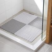 洗澡間浴室防滑墊 拼接方形家用衛生間隔水地墊 淋浴房衛浴腳墊【限時八五折】