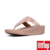 新降單一價!【FitFlop】LOTTIE CHEVRON-SUEDE TOE-THONGS(灰粉色)