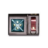 【LIEVO】 水蠟皮壓扣零錢包+水蠟皮鑰匙圈