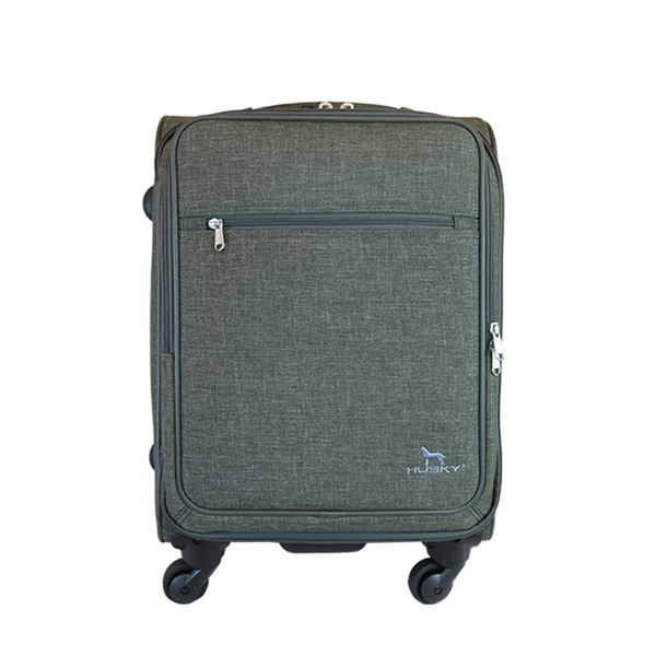 YUE HUSKY 行李箱 18吋 輕量 防潑水 拉桿布箱 登機箱 YU-7018 新版 得意時袋