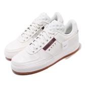 Nike 休閒鞋 AF-1 Type N.354 Air Force 1 米白 咖啡 男鞋 解構 膠底 運動鞋 【PUMP306】 CJ1281-100