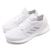 adidas 慢跑鞋 PureBOOST GO 白 灰 編織鞋面 女鞋【ACS】 F35787