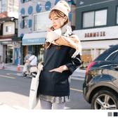 《AB5074-》素色磨質雙口袋長版上衣 OB嚴選