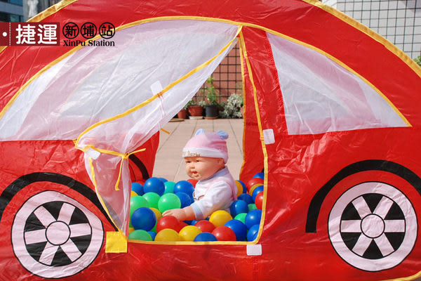 金龜車折疊帳篷兒童遊戲球屋653