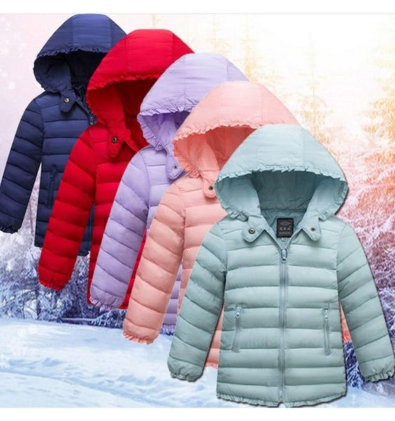 中大童外套 仿羽絨鋪棉連帽外套 輕薄型保暖外套 LUCK1888  好娃娃
