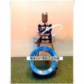 台灣製造 送藍色夾紗雙併管!! 噴漆用 氣動雙隔膜 泵浦 幫浦 四腳仔