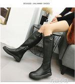 馬靴女長筒靴平底騎士靴中長靴女靴高筒靴英倫長靴女YYJ 青山市集