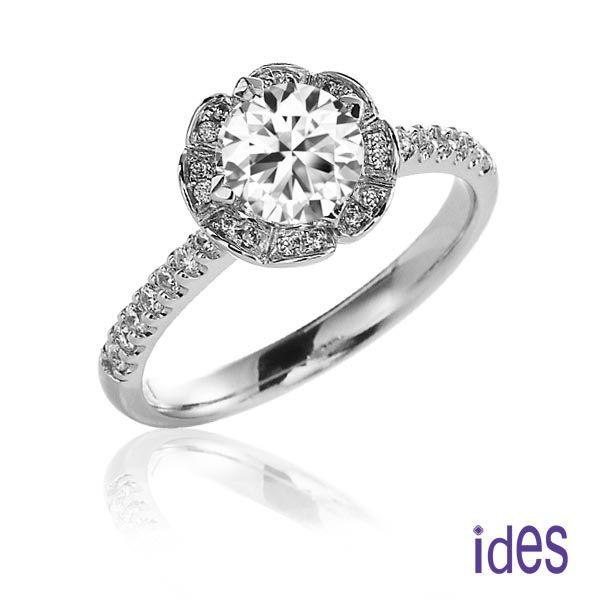 ides愛蒂思精選GIA鑑定1.01克拉F/SI1八心八箭3EX完美車工鑽石戒指