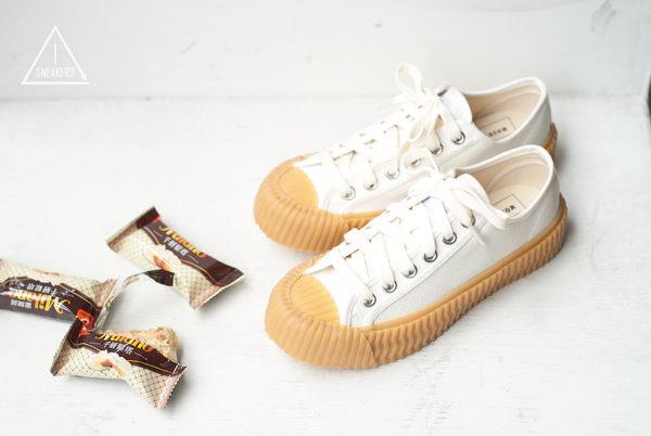 韓國 EXCELSIOR 餅乾鞋 米白膠底帆布鞋 CS-M6017CV-WG 正品 女鞋 帆布 休閒鞋