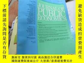 二手書博民逛書店journal罕見of public economics vol
