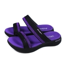 G.P (GOLD PIGEON) 阿亮代言 雙帶拖鞋 女鞋 黑/紫色 G1583W-41 no499