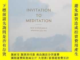 二手書博民逛書店Invitation罕見to Meditation: How t