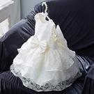 女童禮服 女童蕾絲棉質內襯裙周歲禮服花童公主裙紅色演出服寶寶嬰兒洋裝-Ballet朵朵
