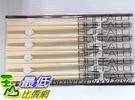[臺灣製]  白色 Buffalo 牛頭牌 彩晶鋼筷子,5雙入/組,不銹鋼_TA39