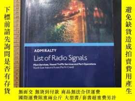 二手書博民逛書店ADMIRALTY罕見LIST OF RADIO SIGNALS