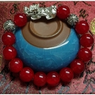 紅玉髓瑪瑙貔貅手鍊念珠手環(附開光證明)