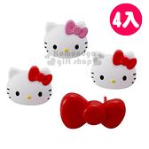 〔小禮堂〕Hello Kitty 日製插座安全蓋《4入.大臉.蝴蝶結》4962644-93770