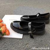 小皮鞋女學生韓版百搭大頭鞋學生復古瑪麗珍單鞋平底艾美時尚衣櫥