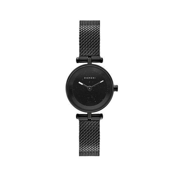 DOMENI COMPANY 星空黑腕錶 經典米蘭錶帶-時尚黑(22mm/BLW01SD-M)