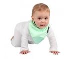 紐西蘭 Mum 2 Mum 機能型神奇三角口水巾咬咬兜-薄荷綠 吃飯衣 口水衣 防水衣