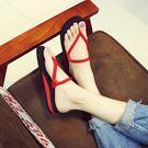 時尚女士人字拖夏 平底夾腳涼拖沙灘鞋情侶坡跟外穿防滑厚底拖鞋  無糖工作室