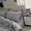 色織水洗棉 素色床包枕套組 單人【淺藍灰】長絨棉 mix&match 無印風 簡約設計 翔仔居家