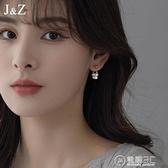 復古天然珍珠耳飾夏季小眾設計耳釘女純銀針2021年新款潮耳環耳墜 電購3C