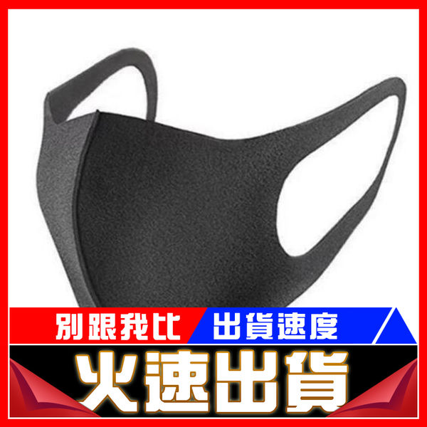 [24H 現貨快出] 防塵口罩黑色海綿口罩(三入組)