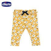 chicco-TO BE Baby-滿底花朵內搭長褲-黃