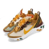 Nike React Element 87 咖啡 黃 白 緩震回彈 透明鞋面 男鞋 女鞋 運動鞋【PUMP306】 CJ6897-113