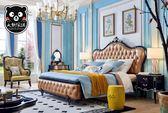 【大熊傢俱】KFD 8607 輕奢華雙人床架 歐式 新古典 典雅 雙人床 床頭櫃 妝台 收納 臥房
