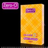情趣用品保險套 ZERO-O-零零超觸感型保險套(12入裝) 黃盒