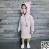 裙裝韓國童裝秋冬款女童純棉加厚洋裝裝中小童長款加絨保暖 生活主義
