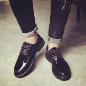 夏季英倫風男士黑色小皮鞋韓版潮流社會小伙精神板鞋百搭休閒潮鞋千千女鞋