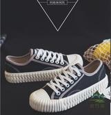 帆布鞋女鞋春季新款餅乾鞋學生小白鞋板鞋 休閒鞋【步行者戶外生活館】