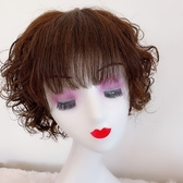 短假髮(整頂真髮絲)全手織空氣瀏海捲髮女假髮2色73vr8【時尚巴黎】